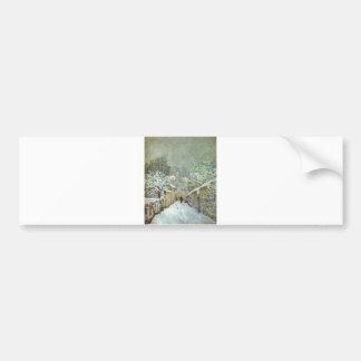 Alfred Sisley - Schnee in Louveciennes 1874 Oil Bumper Sticker