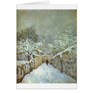 Alfred Sisley - Schnee in Louveciennes 1874 Oil Greeting Card