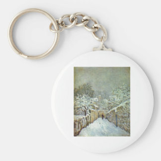 Alfred Sisley - Schnee in Louveciennes 1874 Oil Keychain