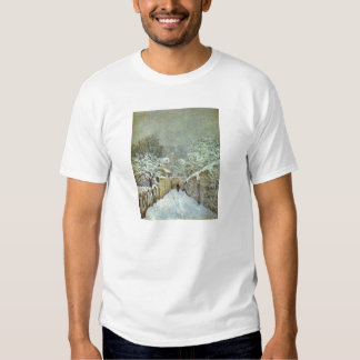 Alfred Sisley - Schnee in Louveciennes 1874 Oil T Shirt