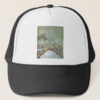 Alfred Sisley - Schnee in Louveciennes 1874 Oil Trucker Hat