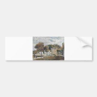 Alfred Sisley - Schwemme von Marly 1875 Bumper Sticker