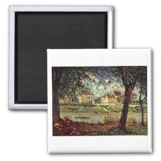 Alfred Sisley -  Seine bei Saint-Mammès 1884 Magnet