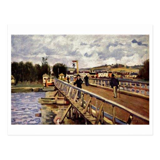 Alfred_Sisley Steg in Argenteuil 1872 Oil Bridge Postcard