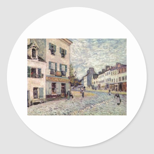 Alfred Sisley Straße in Marly 1976 Oil Round Stickers