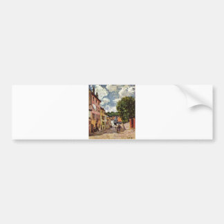Alfred Sisley - Straße in Moret-Sur-Loing 1892 Bumper Sticker