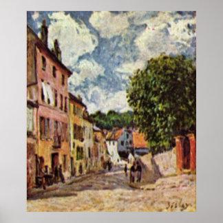Alfred Sisley - Straße in Moret-Sur-Loing 1892 Poster