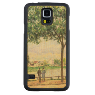 Alfred Sisley | Street of Spanish Chestnut Trees Carved Maple Galaxy S5 Case