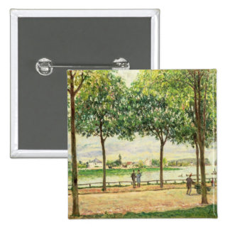 Alfred Sisley | Street of Spanish Chestnut Trees Pinback Button