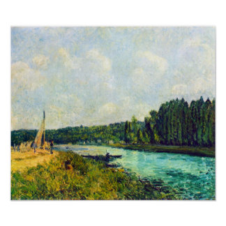 Alfred Sisley - The banks of the Oise Poster
