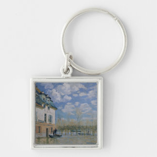 Alfred Sisley | The Boat in the Flood, Port-Marly Keychain