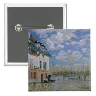 Alfred Sisley | The Boat in the Flood, Port-Marly Pinback Button