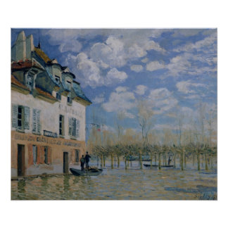 Alfred Sisley | The Boat in the Flood, Port-Marly Poster