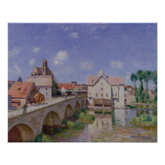 Alfred Sisley | The Bridge at Moret Poster