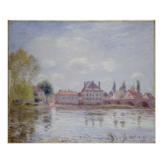 Alfred Sisley | The Bridge at Moret-sur-Loing Poster
