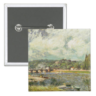 Alfred Sisley | The Bridge at Sevres Pinback Button