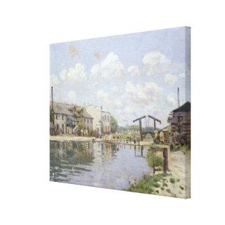 Alfred Sisley | The Canal Saint-Martin, Paris Canvas Print