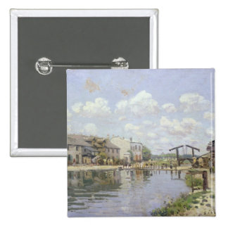 Alfred Sisley | The Canal Saint-Martin, Paris Pinback Button