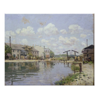 Alfred Sisley | The Canal Saint-Martin, Paris Poster