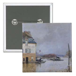 Alfred Sisley | The Flood at Port-Marly Pinback Button