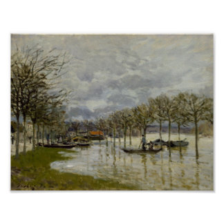 Alfred Sisley - The Flood on the Road Poster