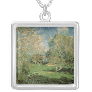 Alfred Sisley | The Garden of Hoschede Family Silver Plated Necklace