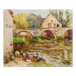 Alfred Sisley - The laundresses by Moret Posters
