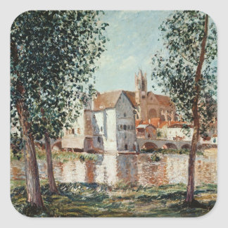 Alfred Sisley | The Loing at Moret Square Sticker