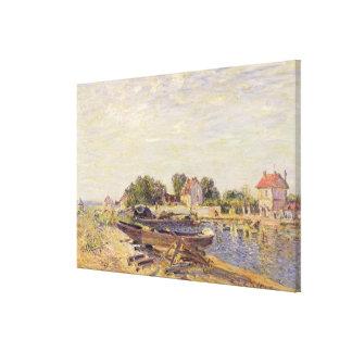 Alfred Sisley   The Loing at Saint-Mammes Canvas Print