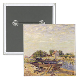 Alfred Sisley | The Loing at Saint-Mammes Pinback Button