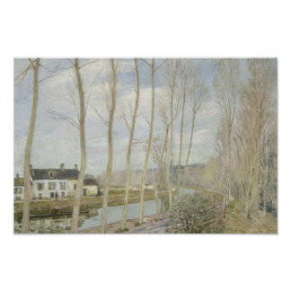 Alfred Sisley - The Loing's Canal Poster