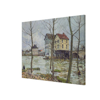 Alfred Sisley | The Mills at Moret-sur-Loing Canvas Print