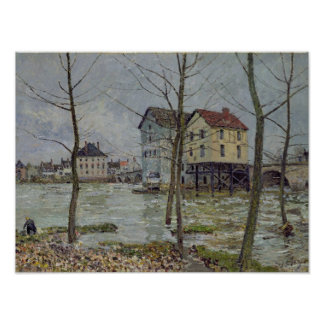Alfred Sisley | The Mills at Moret-sur-Loing Poster