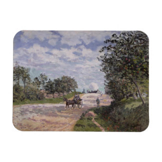 Alfred Sisley | The Road from Mantes  Magnet