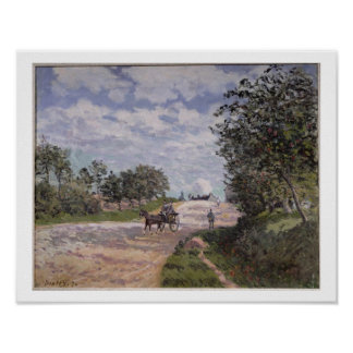 Alfred Sisley | The Road from Mantes  Poster