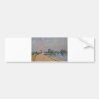 Alfred Sisley The Road to Hampton Court 1874 Car Bumper Sticker