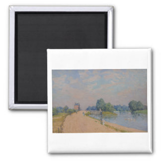 Alfred Sisley The Road to Hampton Court 1874 Magnet