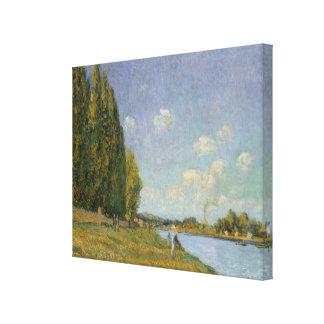 Alfred Sisley | The Seine at Billancourt Canvas Print