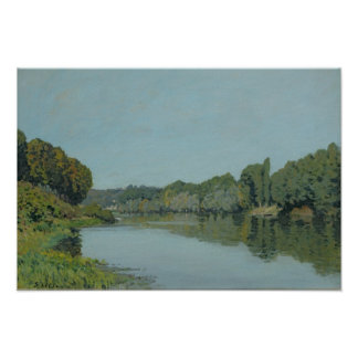 Alfred Sisley | The Seine at Bougival Poster