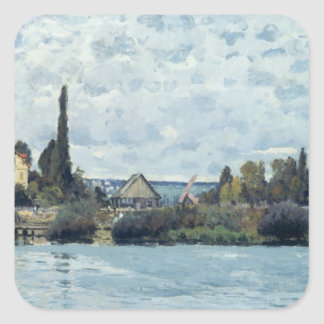 Alfred Sisley | The Seine at Bougival Square Sticker