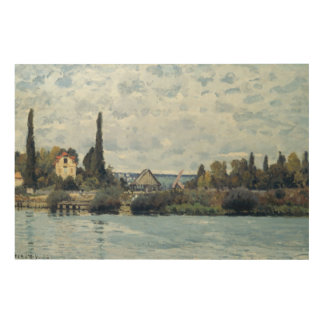Alfred Sisley | The Seine at Bougival Wood Wall Art