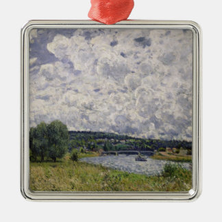Alfred Sisley | The Seine at Suresnes Metal Ornament