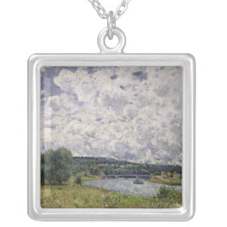 Alfred Sisley | The Seine at Suresnes Silver Plated Necklace
