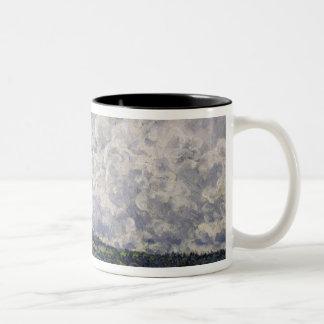 Alfred Sisley | The Seine at Suresnes Two-Tone Coffee Mug