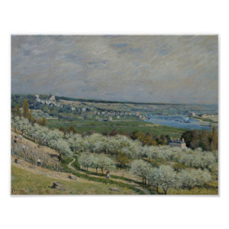 Alfred Sisley - The Terrace at Saint-Germain Poster