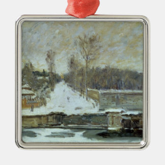 Alfred Sisley | The Watering Place at Marly-le-Roi Metal Ornament