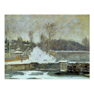Alfred Sisley   The Watering Place at Marly-le-Roi Postcard