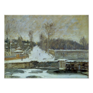 Alfred Sisley | The Watering Place at Marly-le-Roi Poster