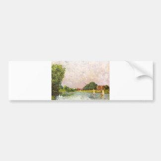 Alfred Sisley - Themse bei Hampton Court 1874 Car Bumper Sticker