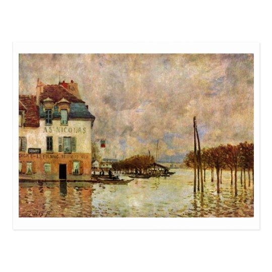 Alfred Sisley - Überschwemmung von Port-Marly 1876 Postcard
